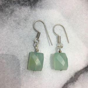 Chalcedony Gem Stone Earrings Jewelry